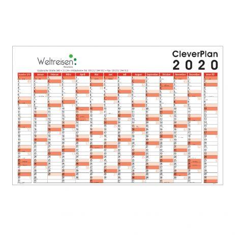 Wandplaner Cleverplan Ausführung mit Werbedruck