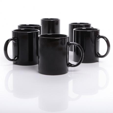 Keramiktasse Carina schwarz in Einzelversandkarton, 300 ml