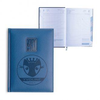 Buchkalender blau 416 S.