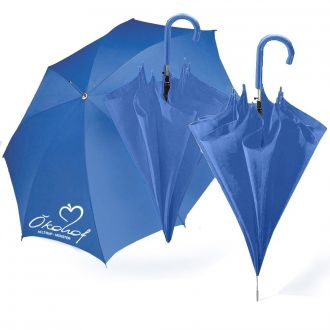 WERBETIPP 30 x  Automatik-Schirme blau inklusive einfarbigem Werbedruck