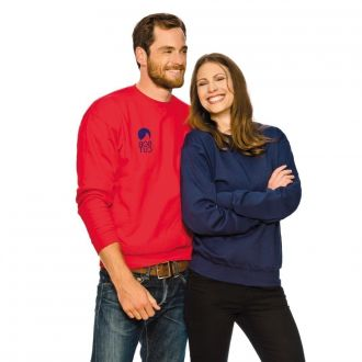 FRUIT OF THE LOOM Sweat-Shirt Set-in Weiß