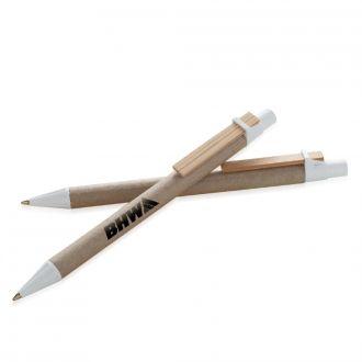 RITTER Kugelschreiber Bio-Mix aus recyceltem Papier mit Holzclip