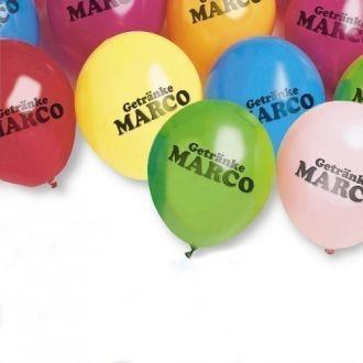 Luftballons, farbig sortiert, einfarbiger Werbedruck
