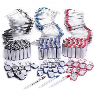 WERBESET Business-Paket 500 Teile inklusive einfarbigem Werbedruck