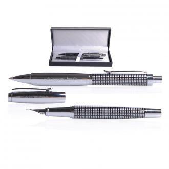Schreibset Nobless mit Metallkugelschreiber und Füllfederhalter