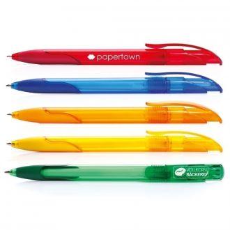 SENATOR Kugelschreiber Challenger Soft Clear mit Gummi-Griffzone