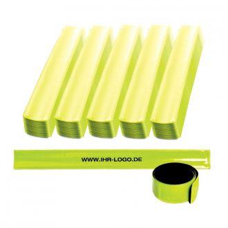 WERBETIPP 100 x Reflektorbänder inklusive einfarbigem Werbedruck