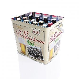 Bierbox Metall 12 Flaschen im bruchsicheren Versandkarton