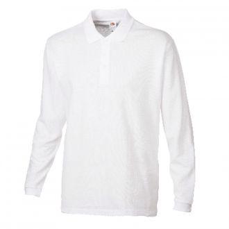 FRUIT OF THE LOOM New Premium Longsleeve Polo Shirt Weiß