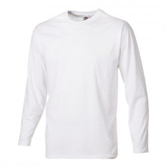 FRUIT OF THE LOOM Longsleeve T-Shirt  Weiß