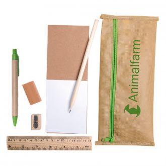 Stifte Etui Julia mit Kugelschreiber und Notizblock aus Recyclingpapier