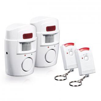 EASYMAXX Bewegungsmelder mit Alarmsignal 2er Set