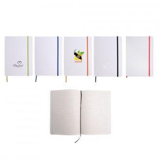 Notizbuch Author DIN A5 mit 80 linierten Seiten und Gummiband