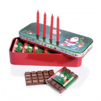 Weihnachtsdose Advent Advent m Vollmilch Schokolade