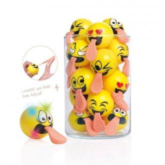 Sprungball m Stretchzunge Emojiface 12er Set