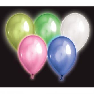 LED Luftballon 5er Set