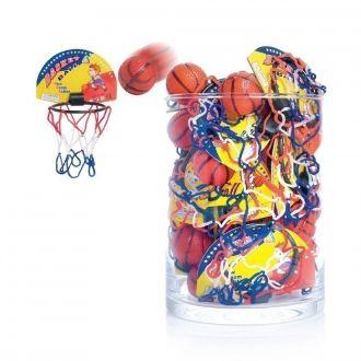 Basketball mit Fangkorb 24er Set 2fach sortiert