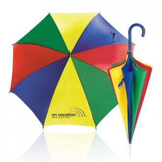 WERBETIPP 36 x Schirme bunt inklusive einfarbigem Werbedruck