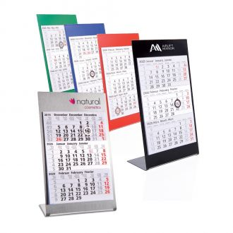 Metall-Tischkalender Desktop Colors 2020/2021