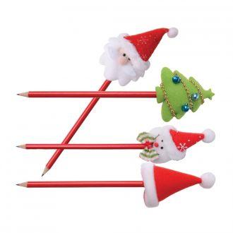 Bleistift Weihnachten mit Filzaufsatz 4er Set
