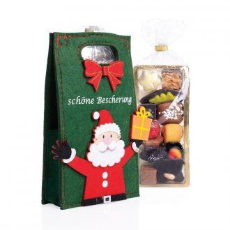Filztasche Weihnachtsmann Schöne Bescherung 125g