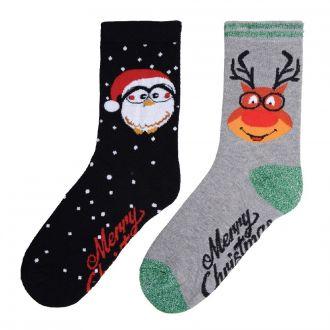 Christmas socks Pinguin-Motiv 2er Set aktuelles Nachfolge- motiv