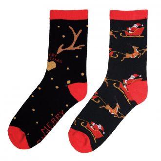 Christmas socks Rentier-Motiv 2er Set aktuelles Nachfolge- motiv