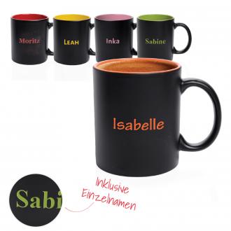 Personalisierte Tasse Bafy 350 ml aus Porzellan inklusive Einzelnamensgravur