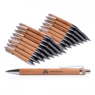 WERBETIPP 150 x Holzkugelschreiber inklusive einfarbigem Werbedruck