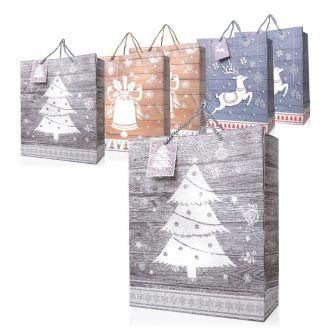 Papiertaschen Weihnachtsmotive 6er Set