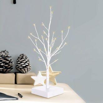 LED Tischbaum weiß 40cm