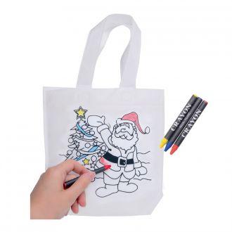 Weihnachtstasche bemalbar Colourful Carry