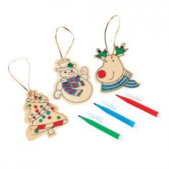Weihnachts-Tree Hanger 3-tlg. bemalbar