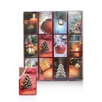 24 Mini Schokoladen Täfelchen 180g Dreimeister 12 Weihnachts motive