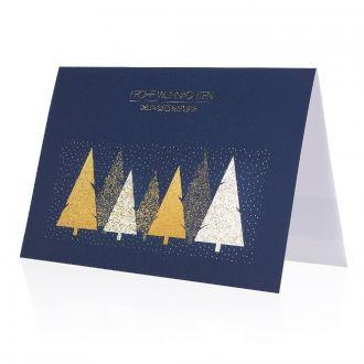 Weihnachtskarte Soft-Touch mit Werbedruck