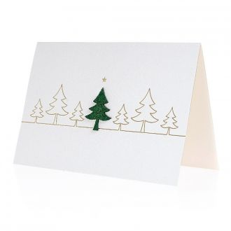 Weihnachtskarte Filz-Tanne mit Werbedruck