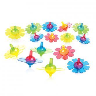 Blumenkreisel farbig sortiert 15er Set