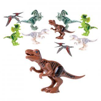 Spielzeug-Dinosaurier als Bausatz im 10er-Set farblich sortiert