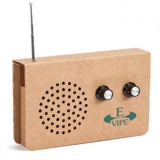 Cardboard Radio mit MP3-Anschluss aus Recycling Karton