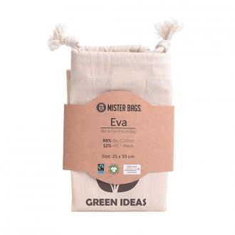 MISTER BAGS Food Bag Eva aus Fair-Trade-Bio-Baumwolle