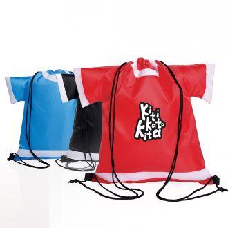Rucksack T-Shirt aus Nylon mit Kordelzug in Form von Trikots,  32 x 39 cm