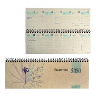 Graspapier Tischquerkalender