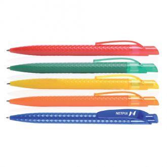 Kunststoff-Kugelschreiber Lachem, blauschreibende Qualitätsmine