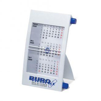3-Monats-Tischkalender blau mit Drehknopf