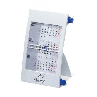 Werbetipp: 50 3-Monats-Tisch- Kalender blau inkl. einfarbigem Werbedruck