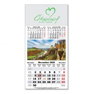 Werbetipp:100 3-Monatskalender mit Bild inkl. einfarbigem Werbedruck