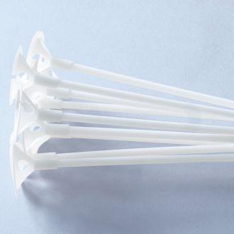 Plastikstäbe für Luftballons Set / 100 Stück