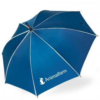 WERBETIPP: 25 Schirme blau inklusive einfarbigem Werbedruck