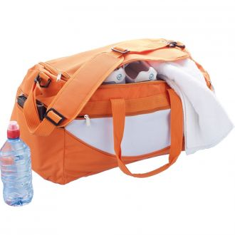 Sporttasche orange/weiß