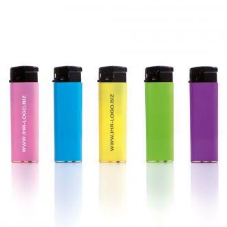 UNILITE Feuerzeug Fancy in leuchtenden Farben, elektronische Zündung